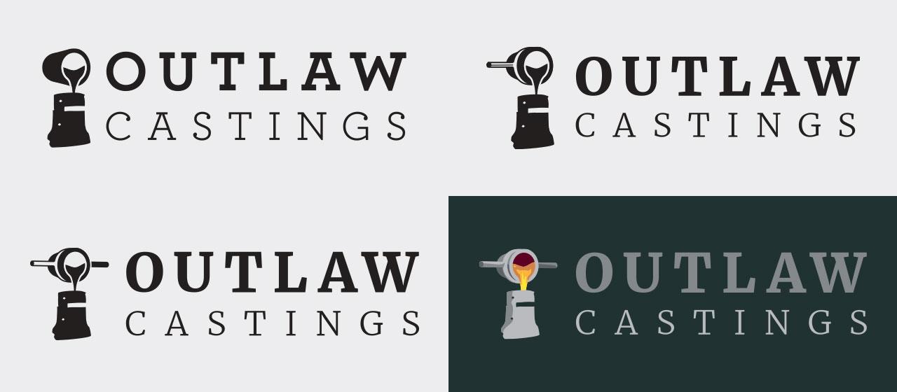 Outlaw Castings Logo Evolution