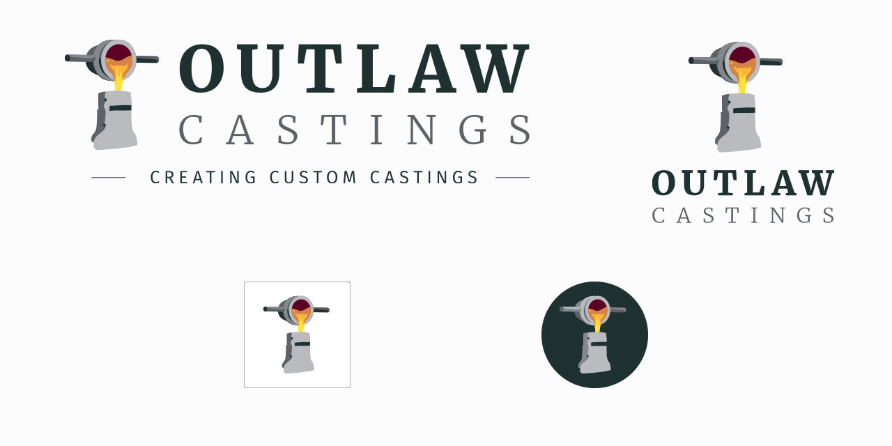 Outlaw Castings Logo Variations