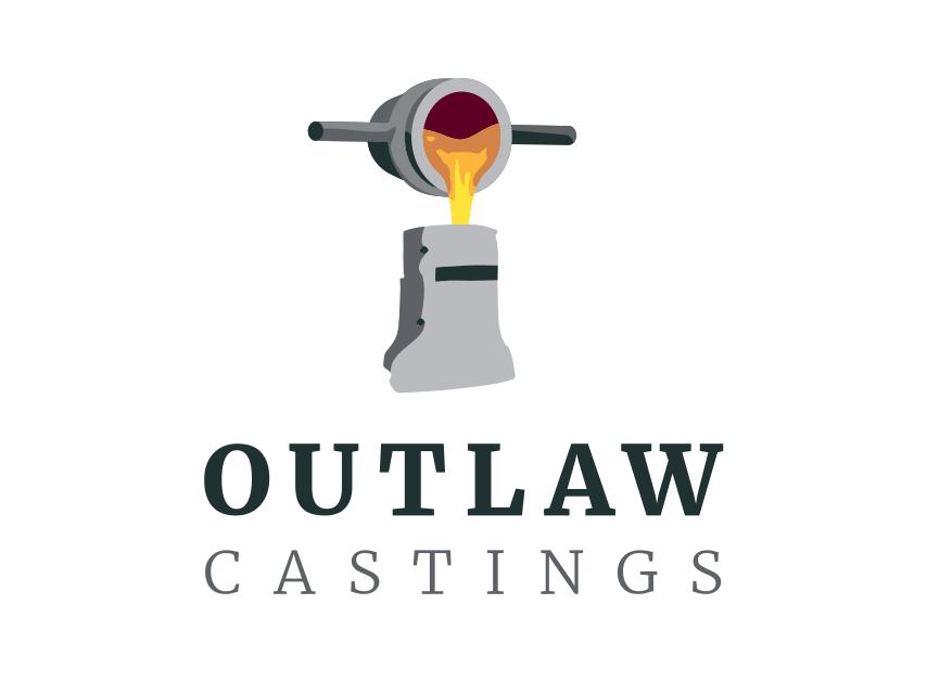 Outlaw Castings Portrait Logo